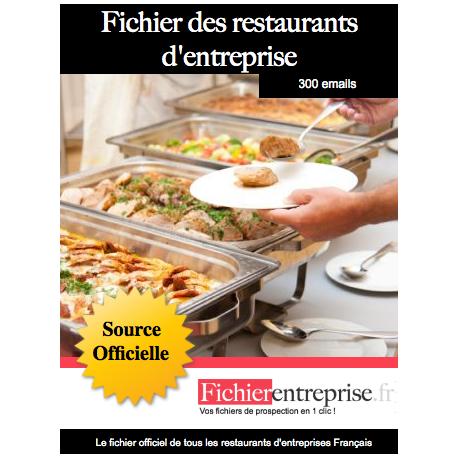 Fichier des restaurants d'entreprises