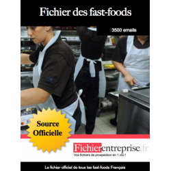 Fichier email des fast-foods