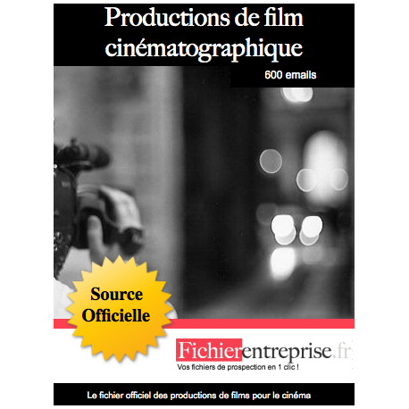 Fichier production de film cinématographique