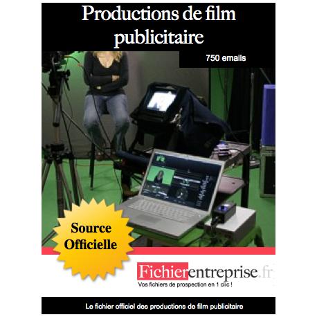 Fichier production de film publicitaire