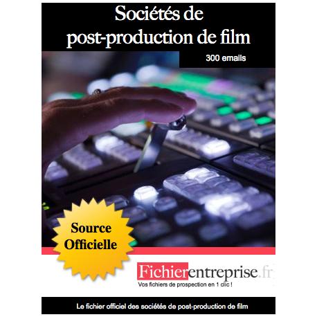 Fichier des sociétés de post-production