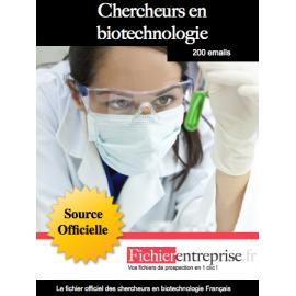 Fichier des chercheurs en biotechnologie