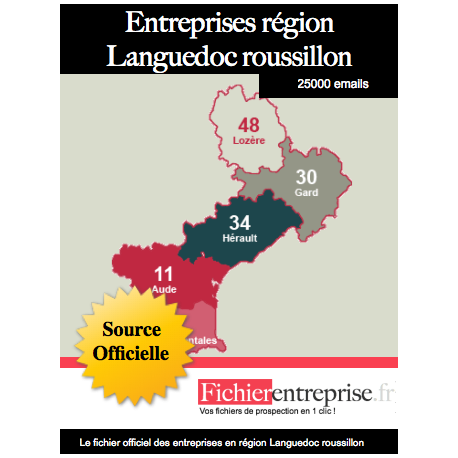 Fichier email Languedoc Roussillon