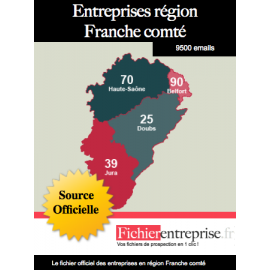 Fichier email Franche comté