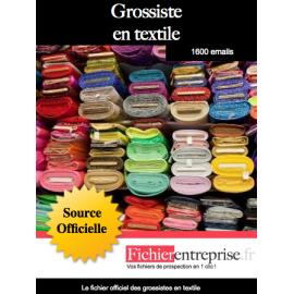 Fichier des grossistes en textile