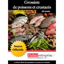 Fichier des grossistes de poissons et crustacés