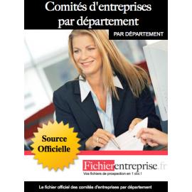 Fichier comités d'entreprise par département