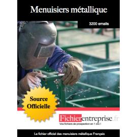 Fichier des menuisiers métallique