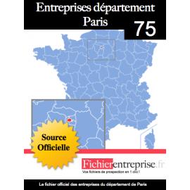 Fichier email 75 Paris