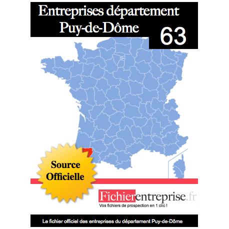 Fichier email 63 Puy de Dôme