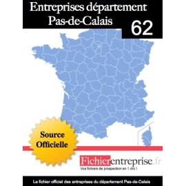 Fichier email 62 Pas de Calais