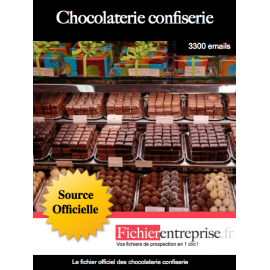 Fichier des chocolateries confiseries