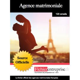 Fichier des agences matrimoniales