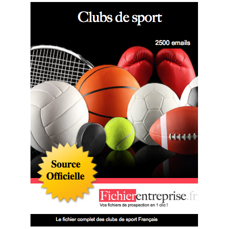 Fichier des clubs de sport