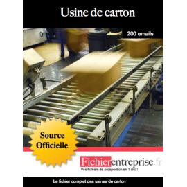 Fichier des usines de carton