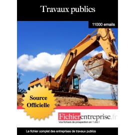 Fichier des sociétés de travaux publics
