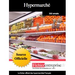 Fichier des hypermarchés