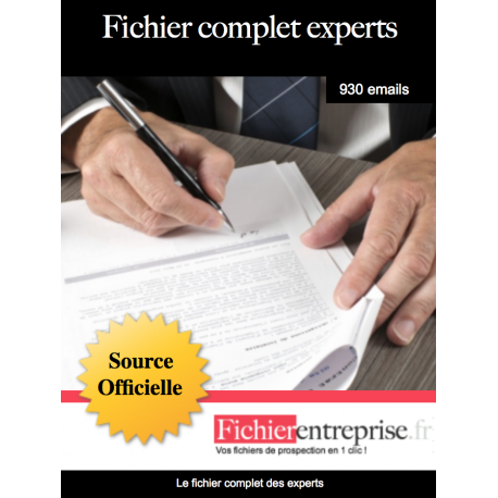 Fichier complet des experts
