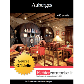 Base email des auberges