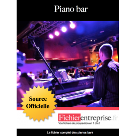 Fichier email des pianos bars
