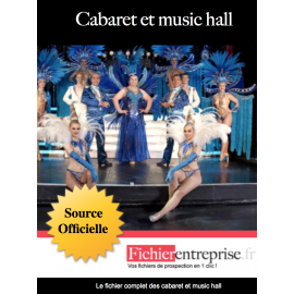 Fichier email cabarets et music hall