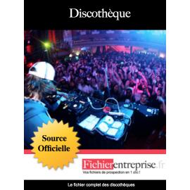 Fichier email des discothèques