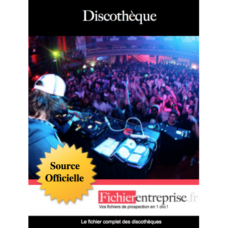 Fichier des discothèques