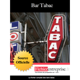 Fichier email des bars tabac