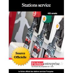 Fichier des stations service
