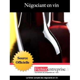 Fichier des négociants en vin