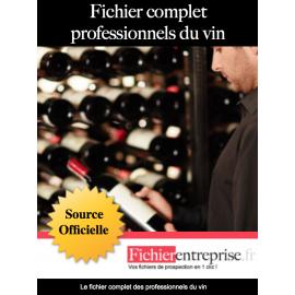 Fichier complet professionnels du vin