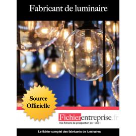 Fichier fabricants de luminaires