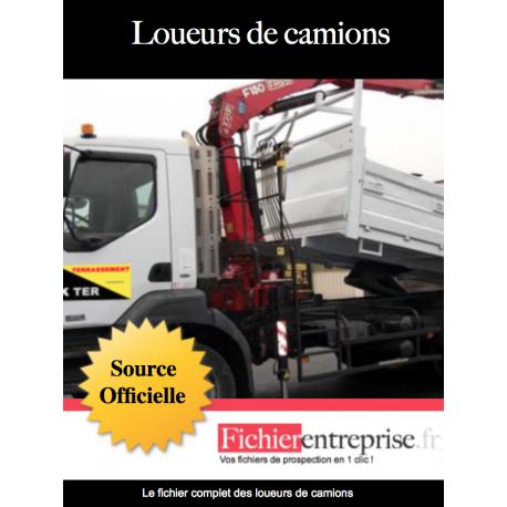Fichier des loueurs de camions