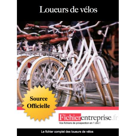 Fichier des loueurs de vélos