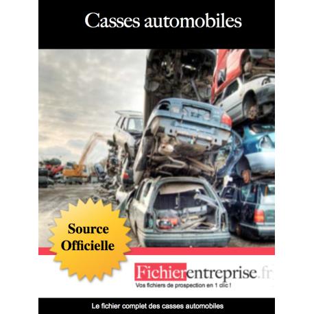 Fichier des casses automobiles