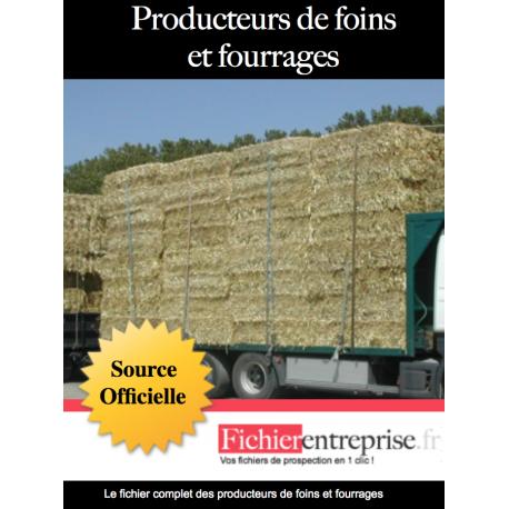 Fichier producteurs de foins et fourrages