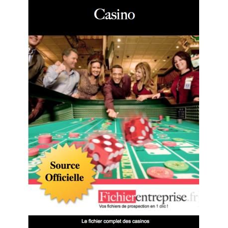 Fichier des casinos