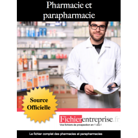 Fichier email pharmacies et parapharmacies