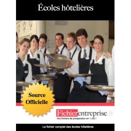 Fichier email des écoles hôtelières