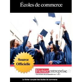 Fichier email des écoles de commerce