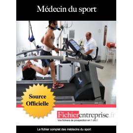 Fichier email des médecins du sport