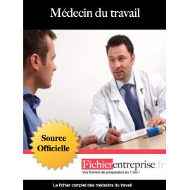 Fichier email des médecins du travail