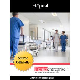 Fichier email des hôpitaux