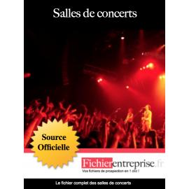 Fichier email salles de concerts