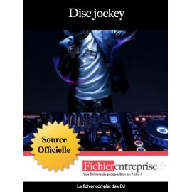 Fichier email des Disc jockey DJ