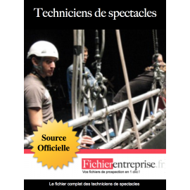 Fichier email techniciens du spectacle