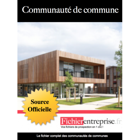 Fichier email communautés de communes