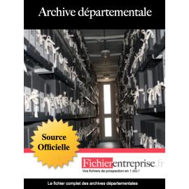 Fichier email archives départementales