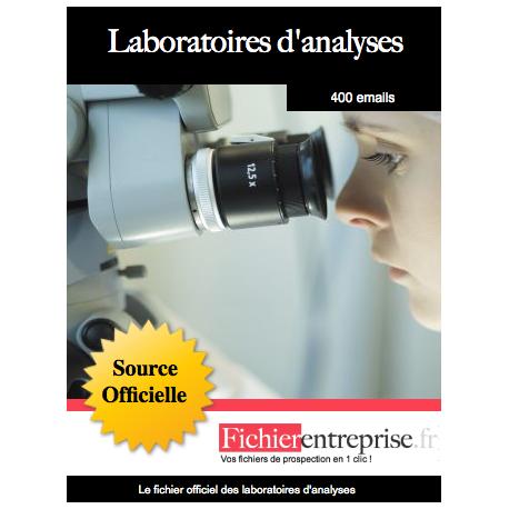 Fichier des laboratoires d'analyses