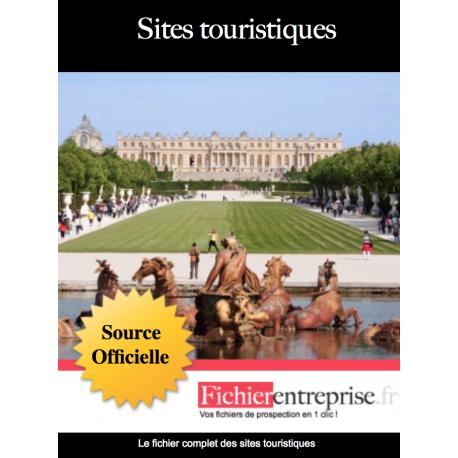 Fichier email sites touristiques